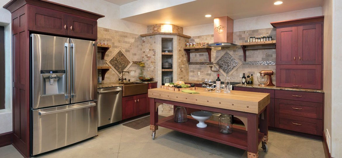 Kitchen interior setting with oven
